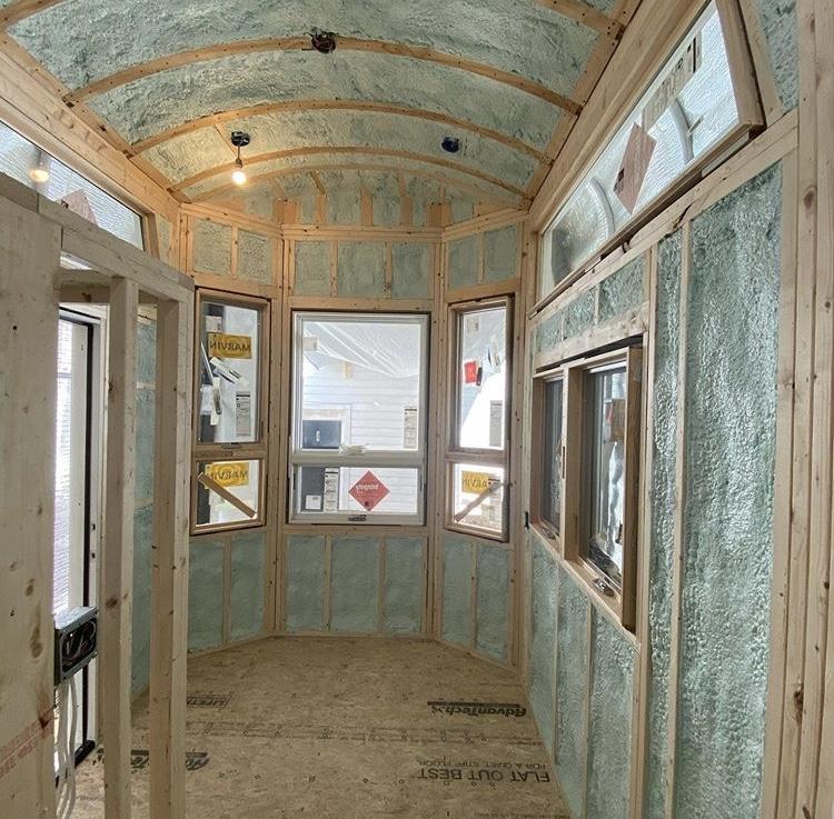 spray foam insulation inside tiny house