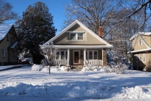 wintery home