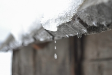 snow melting off roof
