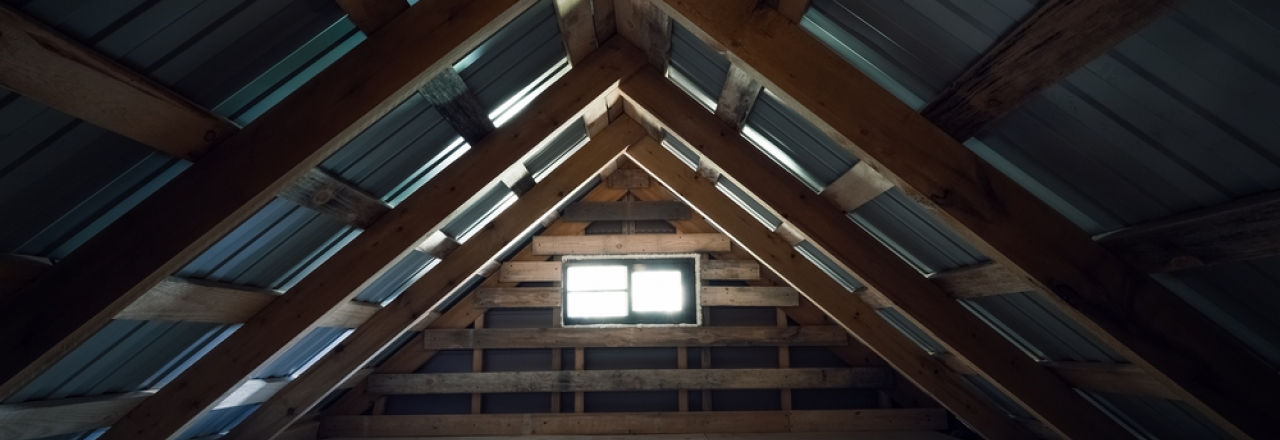unfinished attic