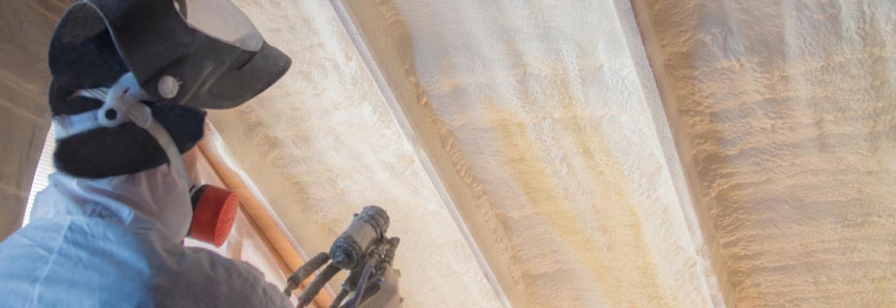 spray foam installation in attic