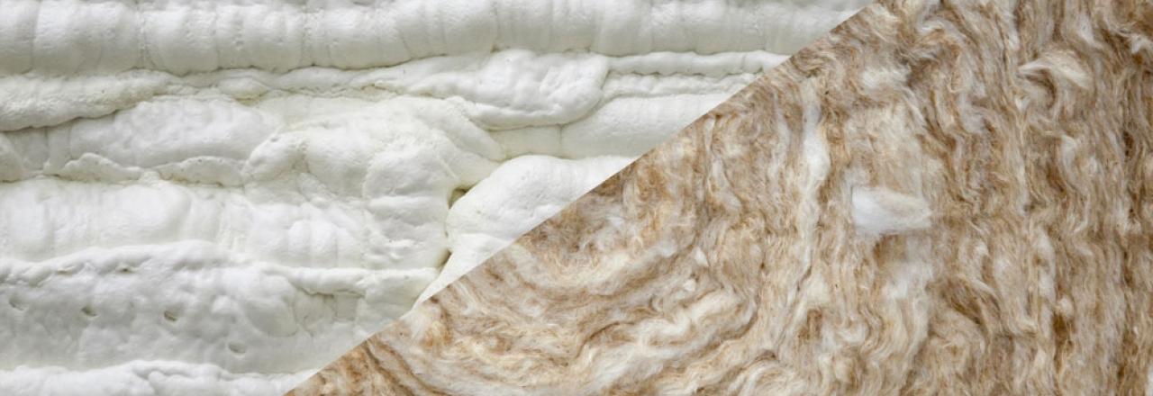 spray foam fiberglass insulation