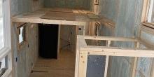 spray foam tiny house interior overview