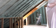 vermont foam insulation contractor applies spray foam