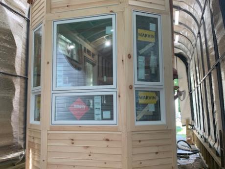 tiny house under construction exterior
