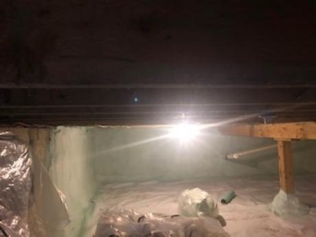 Crawlspace Retrofit, Peru, Vermont