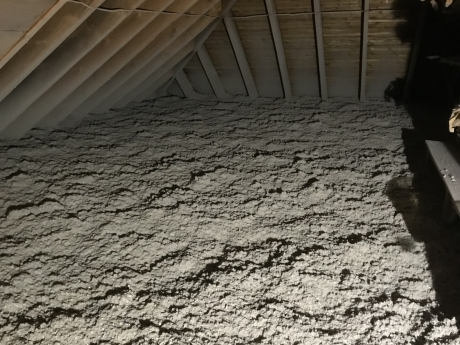 Loose Blown in Cellulose on Attic Flats