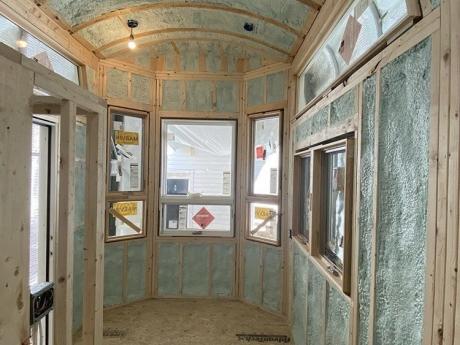 tiny house spray foam insulation interior